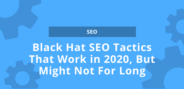 Cover image for article on Black Hat SEO Tactics with several gears in background