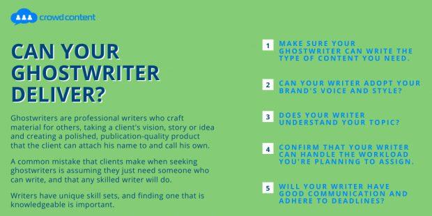 Qualities to look for in a ghostwriter