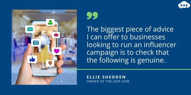 Quote from Ellie Shedden on eCommerce influencer marketing
