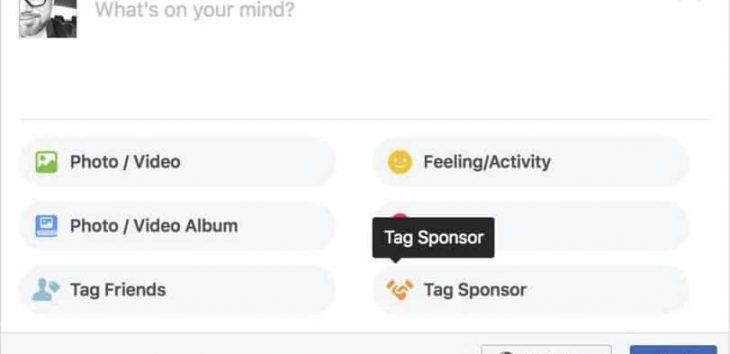 Facebook Sponsor Tags