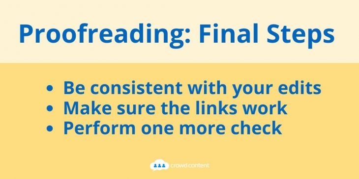 Final steps for proofreading your work