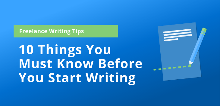 Cover image for post about freelance writing tips.