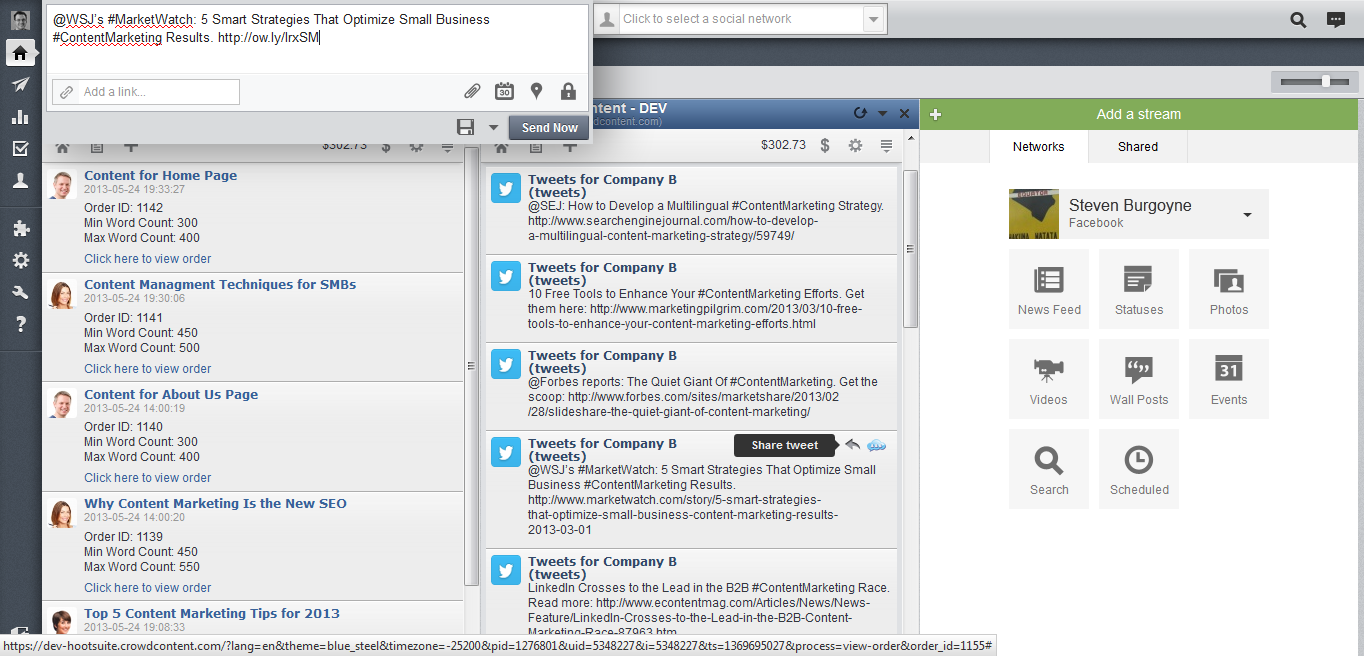 HootSuite App - Share Completed Tweets