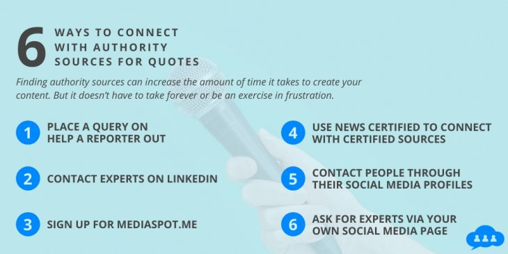 How to Connect with Authority Sources for Quotes