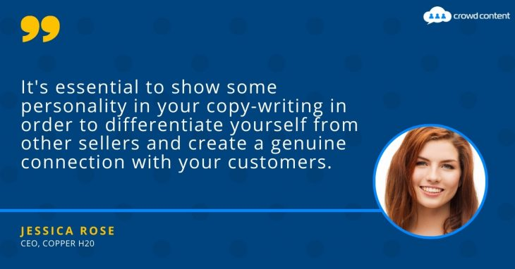 Avoid bland—retail copywriting needs to have personality and a distinctive voice to be effective.
