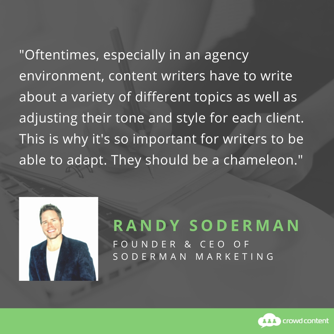Randy Soderman Content Writer Quote