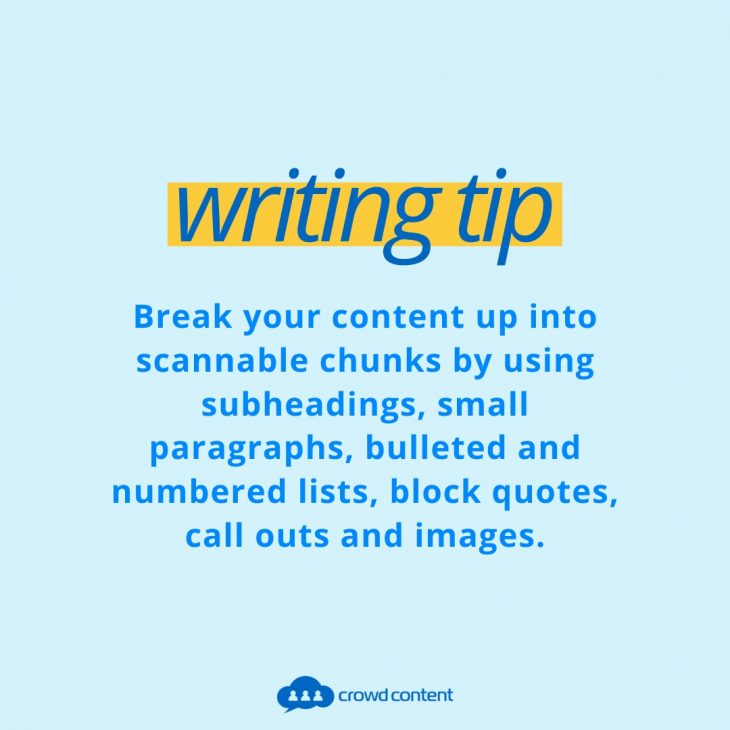Writing Tip for Service Descriptions