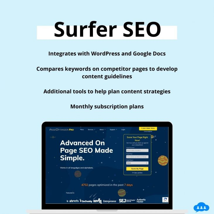 Surfer SEO Features