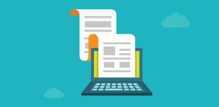 Photo showing a long blog post being written