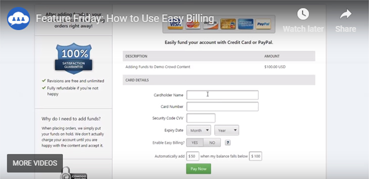 Video tutorial: How to Use Easy Billing