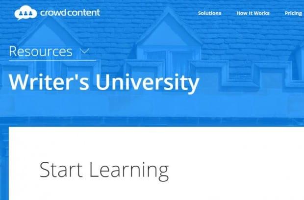 crowd content writer university